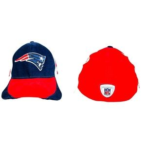 NFL Reebok  New England Patriots Hat Red Blue